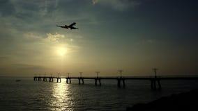 私人喷气式飞机接近 图库摄影