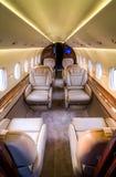 私人喷气式飞机-内部客舱 库存照片