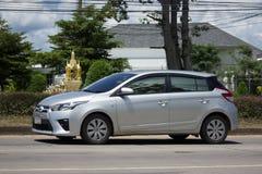 私人汽车丰田亚里斯Eco汽车 免版税库存图片