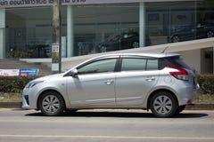 私人汽车丰田亚里斯Eco汽车 库存照片