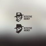 私家侦探传染媒介商标 免版税库存照片