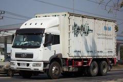 私有一汽卡车和容器货物 免版税图库摄影