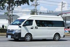 私有丰田通勤者搬运车 库存图片