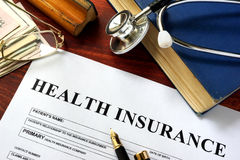 私有健康保险 库存照片