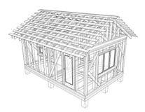 私有房子剪影 向量 向量例证