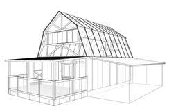 私有房子剪影 3d传染媒介翻译  向量例证