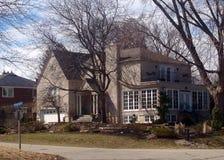 私有房子在密西沙加 免版税库存照片