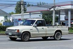 私有拾起卡车,老马自达 免版税库存图片