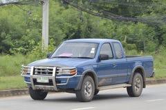 私有提取汽车,五十铃D-MAX 免版税库存照片