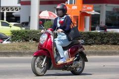 私有本田自动滑行车Scoopy我摩托车 图库摄影