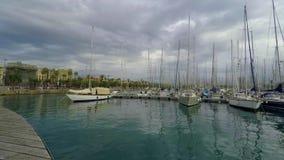 私有港口口岸在一阴沉的天 股票录像