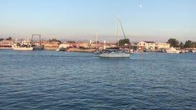 私有游艇输入的口岸 影视素材