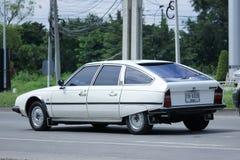 私有老汽车,雪铁龙CX 2400 Pallas 免版税库存照片