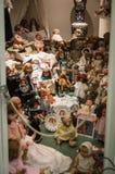 私有老玩偶收藏 库存照片