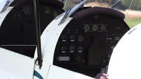 私有葡萄酒飞机特写镜头 股票录像