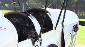 私有葡萄酒飞机特写镜头 股票视频