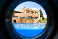 私有西班牙房子 免版税库存照片