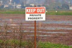 私有财产把标志关在外面 免版税库存图片