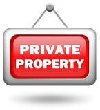 私有财产 向量例证