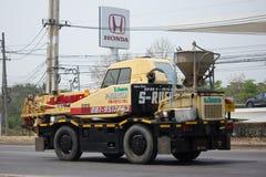 私有起重机卡车 免版税库存照片