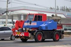 私有起重机卡车 免版税库存图片