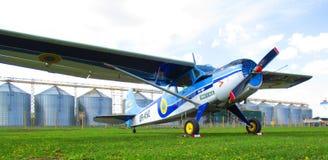 私有飞机, Kamenets Podolskiy,乌克兰 免版税库存图片