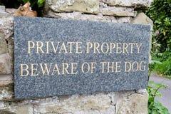 私有财产 免版税库存图片