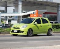 私有Eco汽车日产3月 免版税库存照片