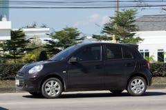 私有Eco汽车,日产3月 免版税库存照片