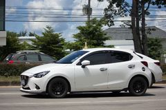 私有Eco汽车, Mazda2 免版税库存照片