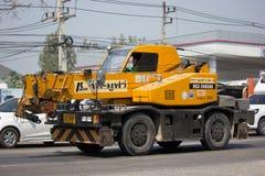 私有TADANO Crevo 100起重机卡车 库存图片