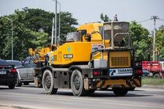私有TADANO Crevo 100起重机卡车 免版税库存照片