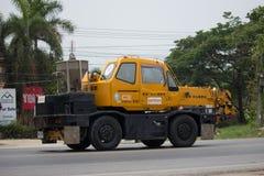 私有TADANO Crevo 100起重机卡车 免版税库存图片