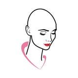 秃头妇女 向量例证