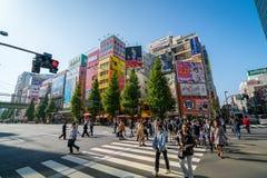 秋叶原电镇在东京 图库摄影