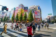 秋叶原电镇在东京 免版税库存照片