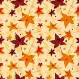 秋叶抽象无缝的背景  库存照片