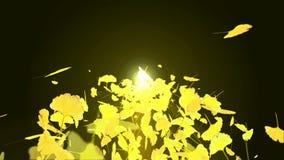 秋叶旋转  秋叶背景 CG银杏树圈动画 : E 向量例证