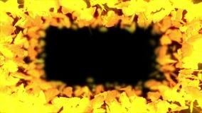 秋叶旋转  秋叶背景 CG银杏树圈动画 : E 皇族释放例证