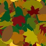 秋叶的无缝的模式 库存照片