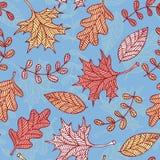 秋叶背景 向量例证