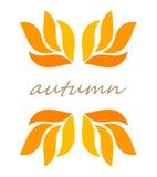 秋叶边界标志 向量例证