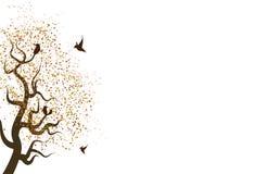 秋叶驱散下降本质上与动物野生生物concep的 皇族释放例证