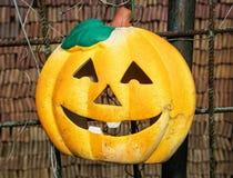 秋天万圣夜南瓜,假日标志 免版税图库摄影