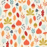 秋天上色样式 向量例证