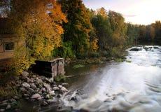 秋天上色芬兰 库存图片