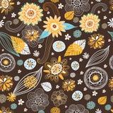 秋天上色花纹花样无缝 免版税库存图片