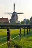 秋天上色荷兰语风车 免版税图库摄影