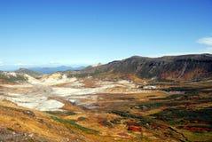秋天上色破火山口 库存图片