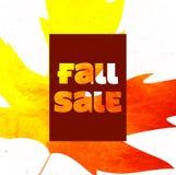 秋天与五颜六色的水彩叶子的销售海报 也corel凹道例证向量 库存图片